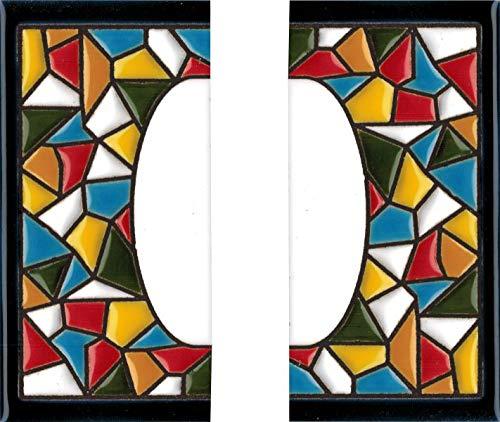 Número y letras para casa, Cerámica Pintada a Mano 5 x 11 cm md trencadis, Grabado y Cerámica Española (Cenefas)