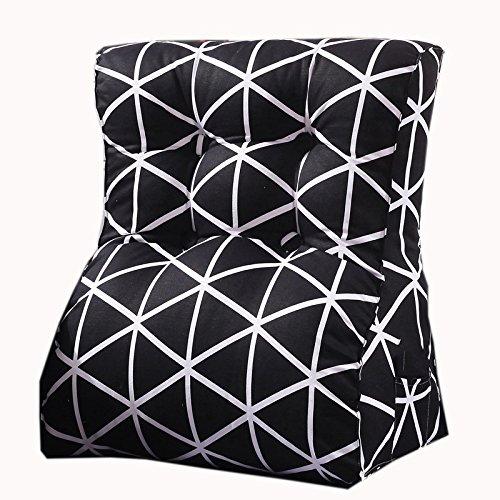 uus Blanc et Blanc Triangle Canapé Coussin Siège de la chaise Coussin carré de motif utile Rebondissement lâche Design ergonomique Dossier confortable 45 * 55cm / 55 * 60cm ( taille : 55*60cm )