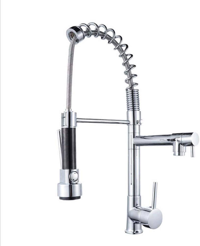 SCJ Küchenmischbatterie Kalt-Warmwasser Mischen Multifunktionsfeder Ziehen Küchenarmatur Waschbecken Wasserhahn