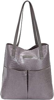 CLAUDIA CANOVA Croc Womens Shopper Grey