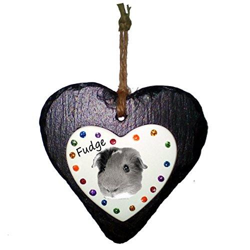 Truly for You Rainbow Bridge PHOTO, Slate Effect Heart Plaque, Pet Memorial