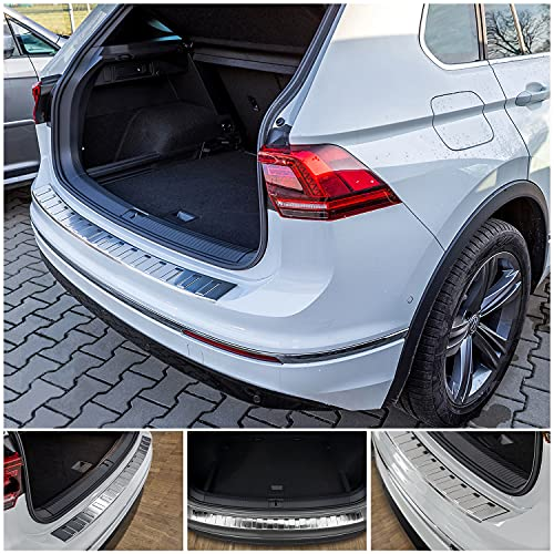 tuning-art L208 Edelstahl Ladekantenschutz für VW Tiguan 2 und Allspace 2016-5 Jahre Garantie