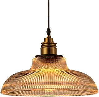 Luz pendiente de cristal de la vendimia, Lámpara de techo industrial LOFT Lámpara colgante de pasillo Restaurante Tienda de olla caliente Café internet Araña de pasillo Grande,Clear