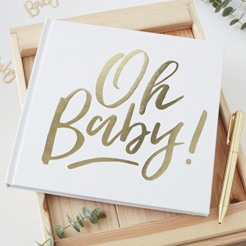 GOLD FOILED OH BABY! GUEST BOOK - OH BABY!