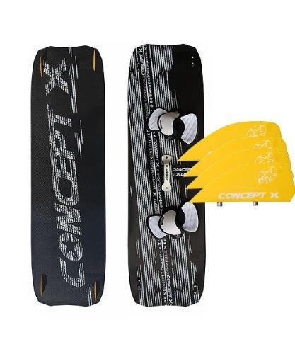 Concept X Kiteboard XLW CARBON 160 x 44 Leichtwindboard komplett mit Boardset