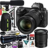 Nikon Z6 Full Frame Mirrorless Camera Body Filmmaker's Bundle with 24-70mm F4 Lens Kit + Deco Photo 500mm F8 Telephoto Lens + Vivitar ST-6000 Stabilizer Tripod + Microphone + Backpack and Accessories