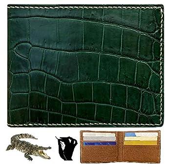 HATA Men Alligator Crocodile Bifold Wallet Handmade Belly RFID Blocking VINAM-87