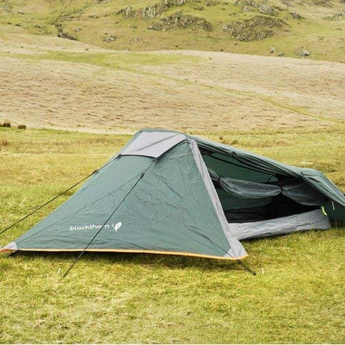 Highlander Blackthorn Tent ―1 Person Compact, Lightweight & Breathable Quick Pitch Tent ― Great Portable Weekender Tent for Bikers, Cyclists & Adventure Trekkers