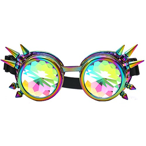 Materials:lens are PC frames are imported ABS Fits different head size with adjustable elastic band Tools for any crazy time travelers to cosplay and take photoes Application:Cosplay photo prop outdoor sports etc Elastic headband helps the goggles st...