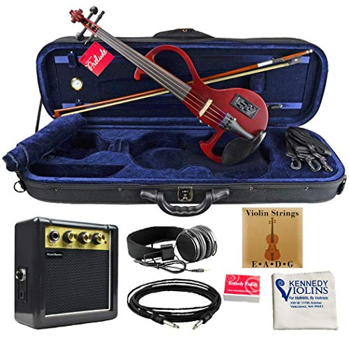 Bunnel EDGE Clearance Electric Violin Outfit Rock Star Red Amp Included BE300