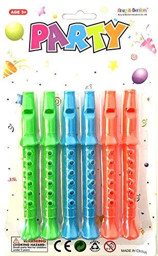 6 X Kinder Blockflöte 14 CM Kunststoff Flöte übungs Instrument