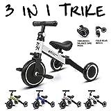 KORIMEFA 3 en 1 Vélo Draisienne Tricycle Évolutif pour Enfants 1-3 Ans Premier...