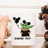LongBin Valentine Baby Yoda Shirtbaby Yodatrip Mug Coffee Tea Cup 11-15Oz-White_11Oz