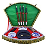 A/N Pincel De Artista Profesional Cepillo Chino de la caligrafía Tinta de la Pluma Pintura Tool Box Set (Color : Green, Size : One Size)