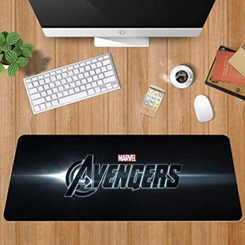 Alfombrilla de Ratón Gaming Teclado del juego alfombrilla de ratón grande alfombrillas de ratones The Avengers superhéroe Iron Man Hulk Thor Hammer Estera Mousepad del ordenador PC alfombrilla de rató