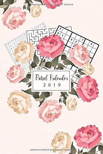 Rätselkalender 2019: Terminplaner & Monatskalender 2019 mit neuen und kniffligen Rätseln - Organisiere deinen Alltag mit dem Rätsel Kalender
