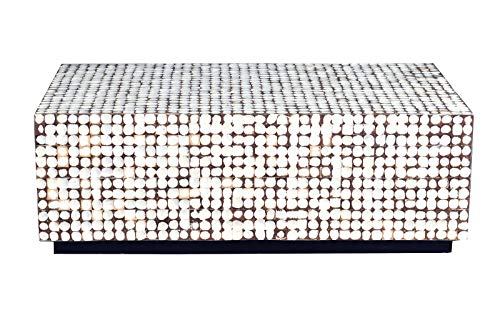 """Crafted Home Elia Table, 27"""" Length by 47"""" Width by 16"""" Height, White"""