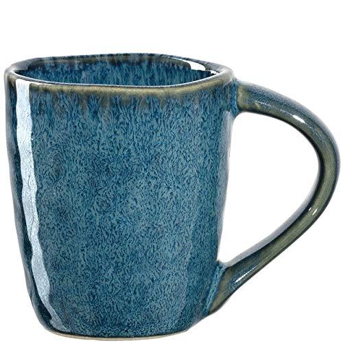 Leonardo Matera Espresso-Tasse 1 Stück, spülmaschinengeeignetes Espresso-Glas, 1 Mokka-Becher aus Steingut, Keramik-Tasse, blau 90 ml, 018596