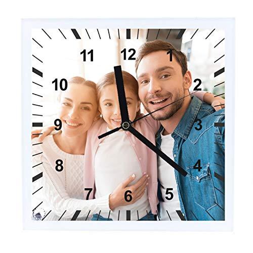 Kembilove Reloj Personalizado con Foto – Regalos Relojes con Foto Personalizadas – Reloj de Pared Original con Frases Graciosas – Regalos Relojes Originales Personalizados