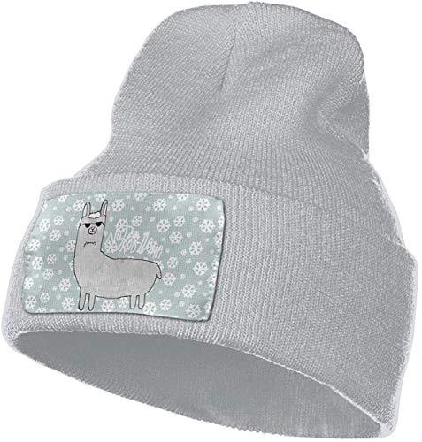 Voxpkrs No Prob-Llama Men & Women Skull Caps Winter Warm Stretchy Knit Beanie Hats