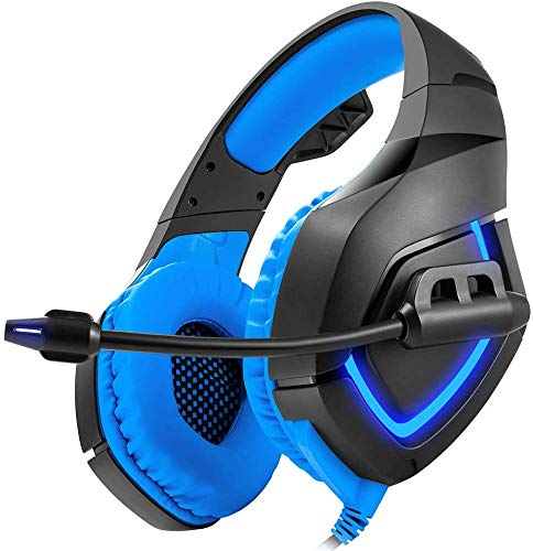 GSUMMER Gaming Headset, Microphone Headset/Best Deep Bass Stereo Headset for PS4 New PC Mobile Gaming Xbox