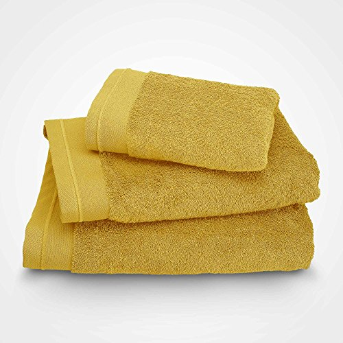 BLANC CERISE Serviette de Toilette - Coton peigné 600 g/m² - Safran 050x100 cm