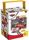Liscianigiochi- Puzzle in a Tub Doble Cara con Reverso para Colorear 24 Piezas con 4 rotuladores incluidos Disney Cars Puzle para niños, Multicolor (86139)