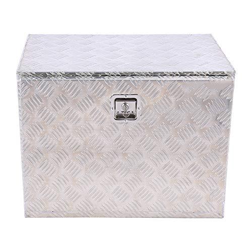 Caja de herramientas de aluminio, caja de cinturón de camión, caja de almacenamiento con cerradura y llave. Caja de subestructura para caja de transporte de coches, caja de enganche, para remolque car