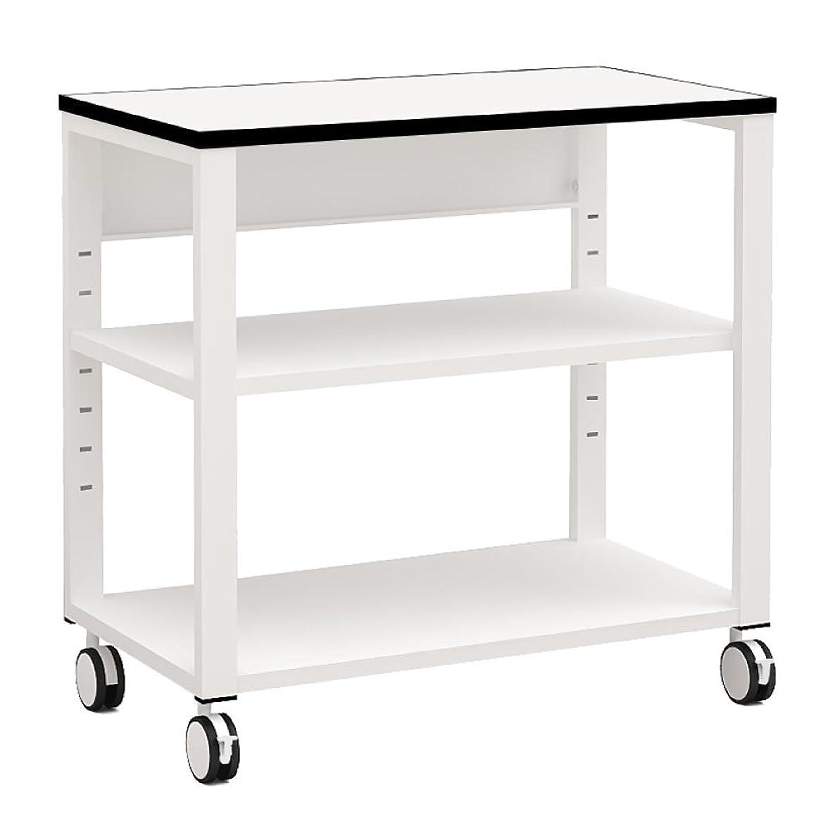 意志に反する粘液金属家具のAKIRA プリンター台 プリンターラック 幅70cm 奥行40cm 高さ70cm ホワイト