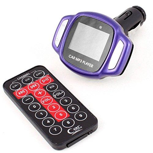Schermo LCD Car Remote Control Mp3 Player FM Transmitter Nero Viola