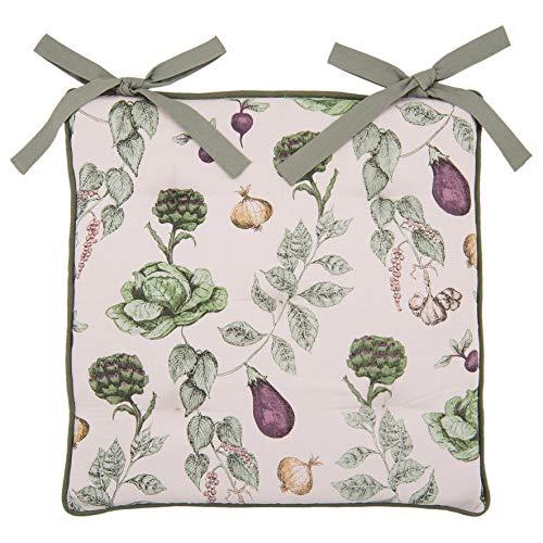 Clayre & Eef TKG29 Stuhlkissen mit Schaumstoff Gemüse Grün 40 * 40 cm