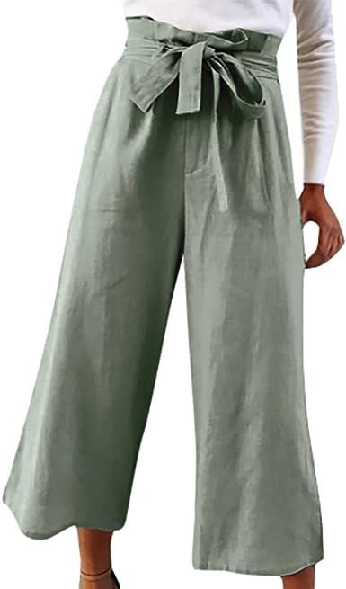 Pantalones Anchos Para Mujer Otono Invierno 2018 Moda Paolian Casual Pantalones Marlene Vestir Cintura Alta Fiesta Pantalon Uniformes De Trabajo Acampanados Baggy Con Cinturon Senora Amazon Es Ropa Y Accesorios