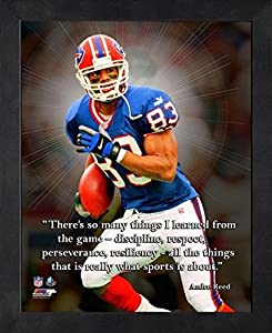 """Andre Reed Buffalo Bills ProQuotes Photo (Size: 9"""" x 11"""") Framed"""