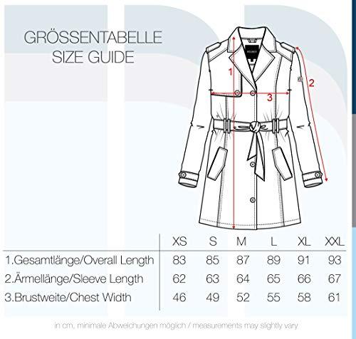 Desires Tessa Giacca Trench Coat Transitorio da Donna con cinturaCollo con Revers, Taglia:L, Colore:Black (9000)