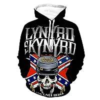 Lynyrd Skynyrd Last Rebel Magnet パーカー スウェット メンズ プルオーバー ポケット付き フーデット 2021 オシャレ前後プリント 通勤 通学 L