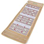 """UTK Red Light Infrared Heating Mat for Relief, Far Infrared Heating Pad with Jade, Amethyst and Tourmaline, EMF Free, Memory Function(Size:73""""x32"""")"""