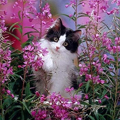 Lacvik 3000 Piezas Rompecabezas para Adultos Gato en la Flor Rompecabezas Divertido Juego Grande Temas educativos y Divertidos 122x81cm