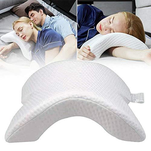 Almohada con arco de espuma viscoelástica 100 %, almohada con arco, almohada de presión de rebote lento, romántica para dormir en pareja, fresca y cómoda, anti nudos de mano