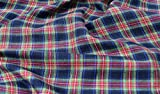 Fabrics-City SCHWARZ/GRÜN/ROT BAUMWOLLKARO SCHOTTENKARO