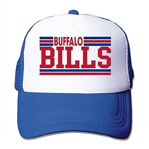 A-Joking Unisex Casual Baseball Cap Trucker Mesh Hat Adjustable - Buffalo Bills Royalblue One Size