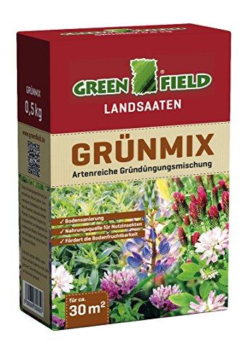 Greenfield 63705 Gruenmix 500 G pour Env. 30 Qm Gründüngungsmischung