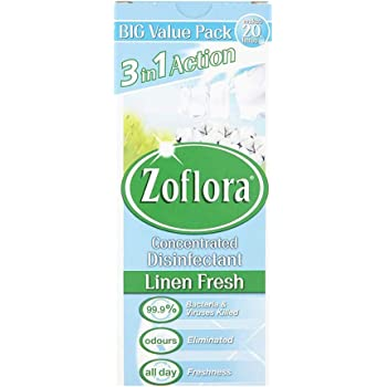 Zoflora 3in1 Action Concentrated Disinfectant Linen Fresh, 500ml