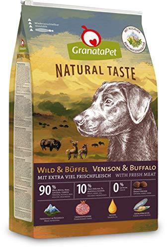 GranataPet Natural Taste Wild & Büffel, Trockenfutter für Hunde, Hundefutter ohne Getreide & ohne Zuckerzusätze, Alleinfuttermittel für ausgewachsene Hunde, 12 kg