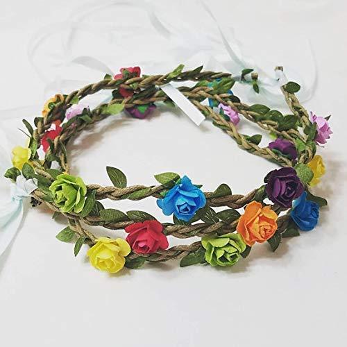 A surprise price is realized Boho Rainbow flower headband rainbow hairband c sale pride