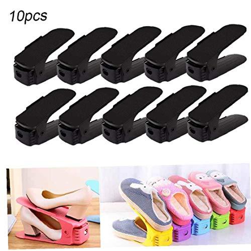 Aisoway Stacker Zapato Zapato Ajustable Estante Organizador