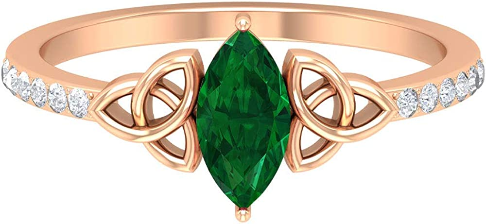 8X4 MM Marquise Shape Industry No. 1 Sales results No. 1 Emerald Accent C Ring Diamond HI-SI