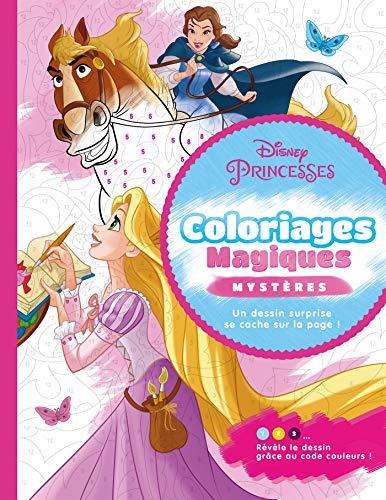 Coloriage magique mystère princesses Disney