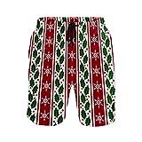 NO Bañador para hombre con bolsillos, rayas navideñas, secado rápido, pantalones cortos con cintura elástica y forro de malla, multicolor, XXL