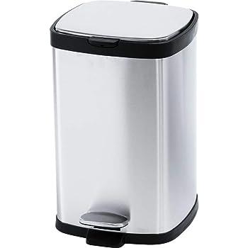 アイリスプラザ ゴミ箱 おしゃれ キッチン 生ゴミ ふた付き ペダル式 12L 角型 匂いが漏れない ステンレス シルバー STPL-12
