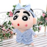 ZFFSC Ragdoll Crayon Shin-chan Doll Plush Toy rag Doll Pillow, Cartoon Birthday Gift for Children, Funny Doll for Girl, Holiday Doll (Color : Starry Sky Bathrobe[Round Eyes])